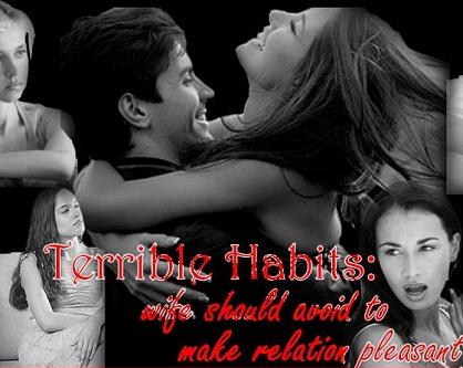Women's terrible habits