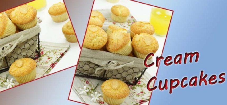 Fluffy Cream Cupcakes