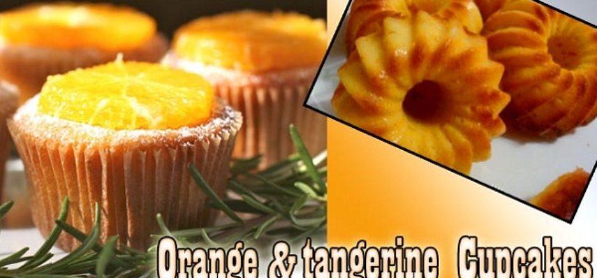 Orange and tangerine cupcakes