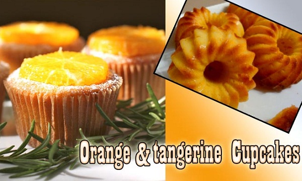 Orange and tangerine cupcakes