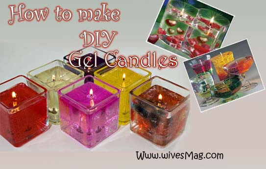 DIY gel candles