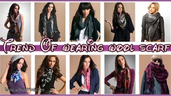 wearing wool scarves