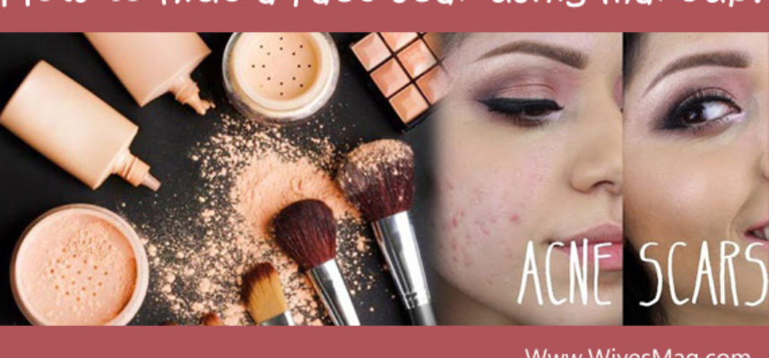 Hide face scars using makeup (header)