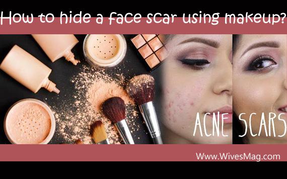 Hide face scars using makeup (header)