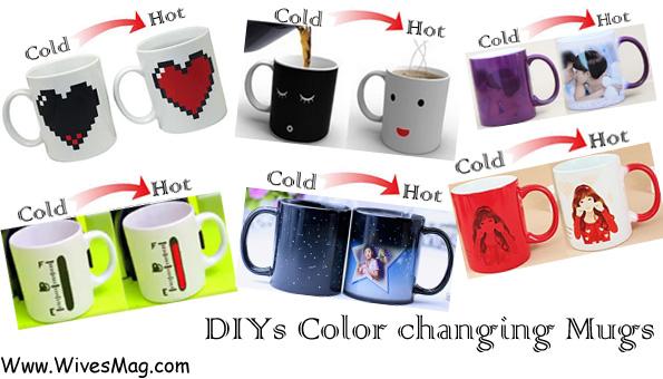 DIYs color changing coffee mugs